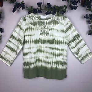 ALFRED DUNNER Blouse Top Shirt 10 P
